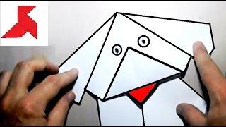 Как сделать оригами СОБАКУ из бумаги А4 своими руками?