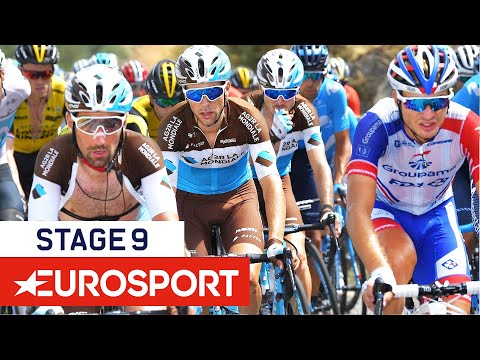 King Wins Uphill Struggle, Yates Takes Overall Lead | Vuelta a España 2018 | Stage 9 Highlights