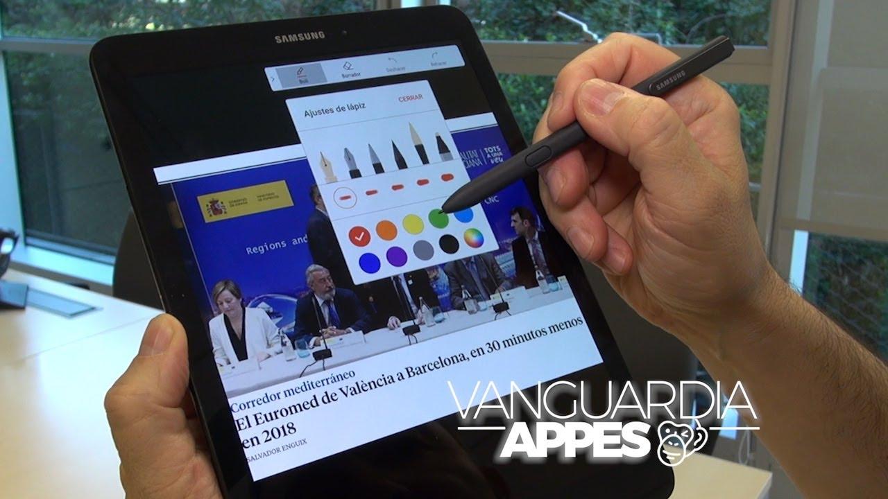 4daa095c582 S Pen, el lápiz del Samsung Galaxy Tab S3 - YouTube