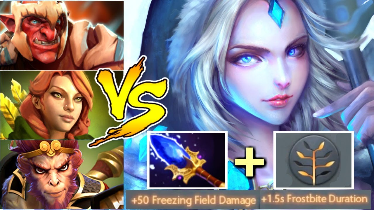 Crystal Maiden Dota 2 Immortals: Imba Scepter Crystal Maiden Mid Solo Vs Team Carry Epic