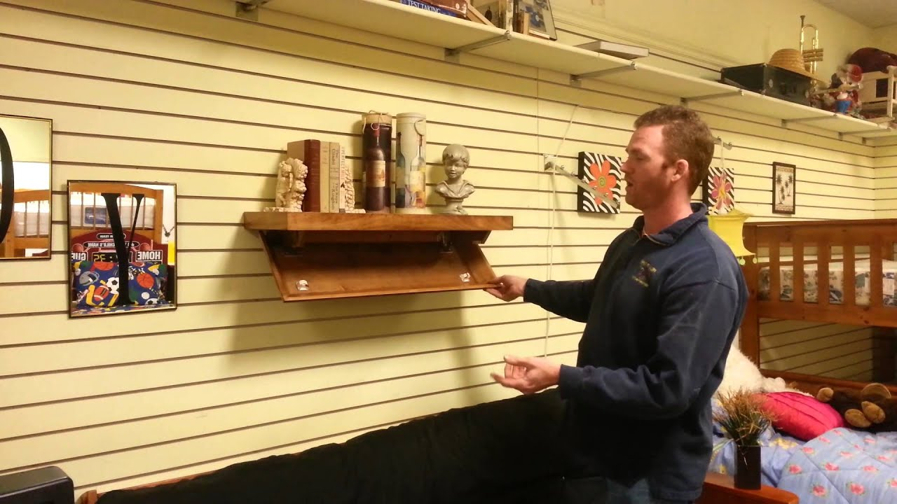 Hidden compartment floating shelf youtube for How to make a secret compartment in your wall