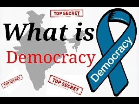 ✔What is democracy explain in hindi.[ Best vedio on democracy ]