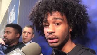 Coby White Speaks With Chicago Bulls Media At NBA Draft Combine