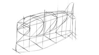 how to draw a zeppelin