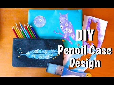 Diy pencil case designs back to school budget art youtube for Design a case
