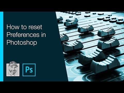 How to reset Preferences in Photoshop