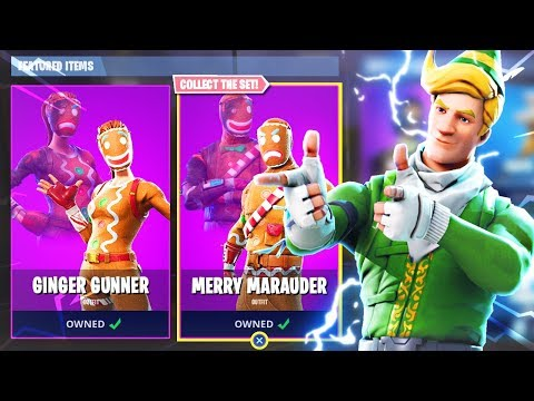 New Fortnite CHRISTMAS SKINS Item Shop Update! (New Fortnite Battle Royale Christmas Skins)