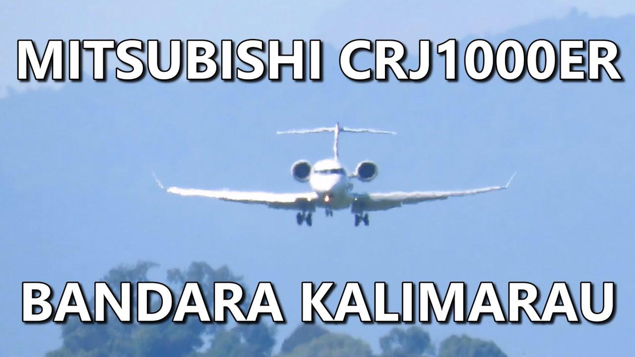 Melayang-layang Sebelum Landing! Garuda Indonesia Mitsubishi CRJ1000ER (Pesawat Terbang Indonesia)