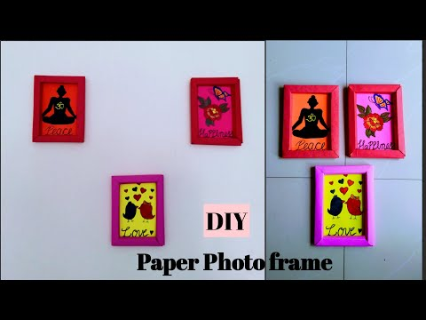 DIY Paper Photo frame without glue (easy home decor)