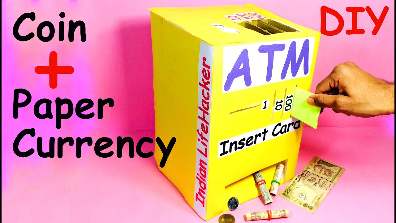 Papercraft How to Make Piggy Bank ATM Machine at Home | DIY Craft for Kids