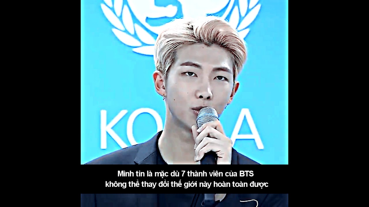 namjoon s speech for love yourself campaign