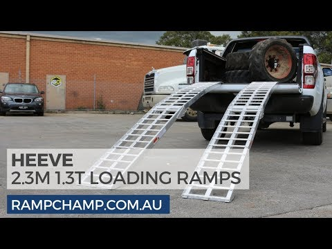 Heeve 2.3m X 1.3-Tonne Aluminium Curved Folding Heavy Duty Loading Ramps Review