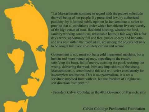 President Calvin Coolidge as the 48th Governor of Massachusetts   Address to the General Court Jan 8