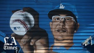 Artists took over a house in East L.A. and made it completely Dodgers blue for the World Series