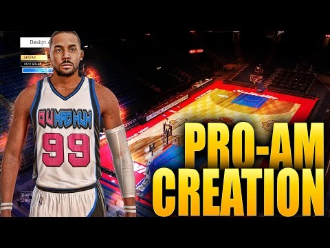 NBA 2K16 Pro-AM Gameplay - O U MAD HUH Creation + Team Branding For Arena & Jerseys
