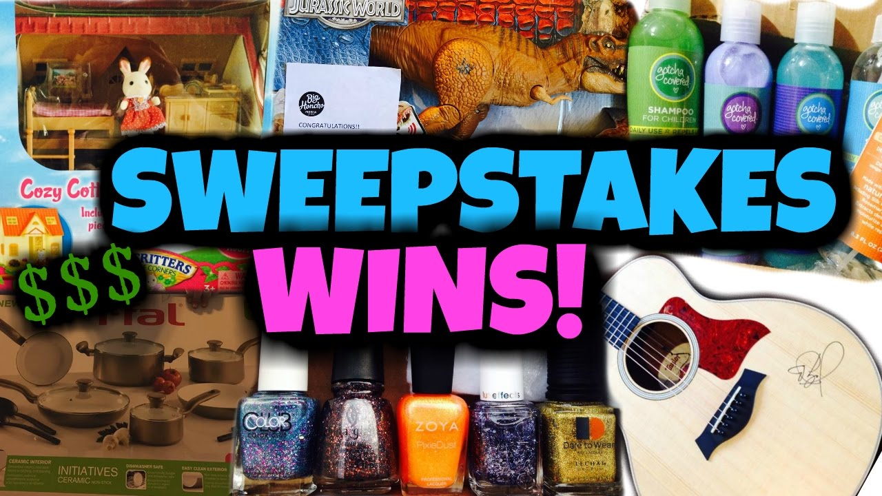 SWEEPSTAKES WINS | WHAT WE'VE WON | WE ARE WINNERS! Giveaways, contests,  prizes, huge giveaways