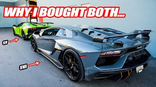 WHY I BOUGHT THE LAMBORGHINI AVENTADOR SV AND THE SVJ!