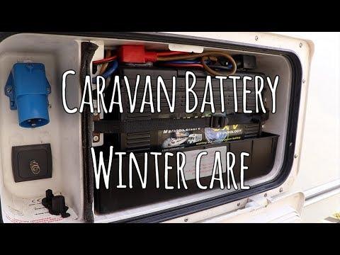 Caravan leisure batteries during winter