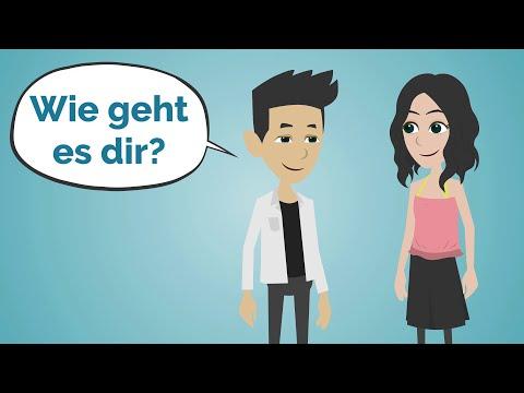 Deutsch lernen   Ich treffe Sarah in der Universität