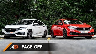 AutoDeal Face Off: Honda Civic RS 2019 vs 2018