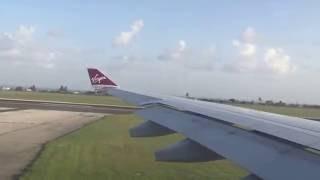 Virgin Atlantic A330 Take Off @ Barbados Grantley Adams International