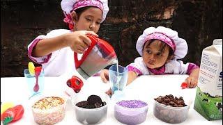 vuclip Mainan Blender Anak Membuat Milkshake dari Susu + OREO 💖 Jessica Jenica