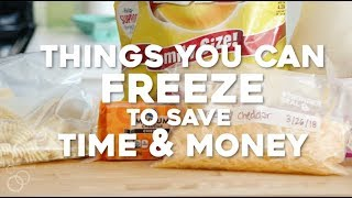 Things You Can Fręeze To Save Time & Money