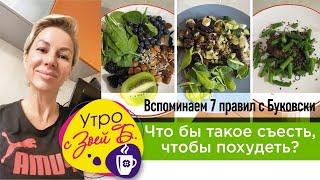 постер к видео Утро с Зоей Б  Чтобы такое съесть, чтобы похудеть  Вспоминаем 7 правил с Буковски!