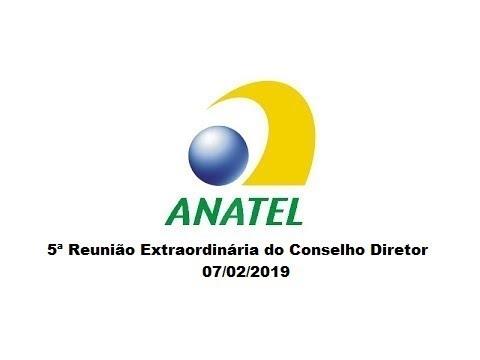 5ª Reunião Extraordinária do Conselho Diretor, de 07/02/2019