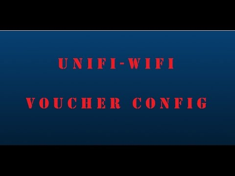 Ubiquiti Networks - UniFi Controller - WiFi Voucher Based Access Setup - 5.0.6