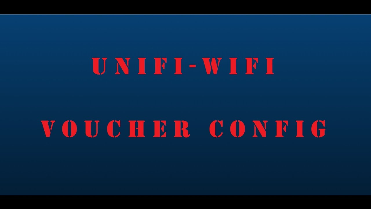 Ubiquiti Networks - UniFi Controller - WiFi Voucher Based Access Setup -  5 0 6