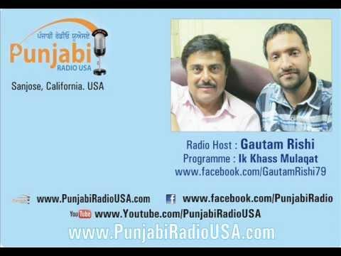 Gaggu Gill @ Guggu Gill Interview by Gautam Rishi, Punjabi Radio.wmv