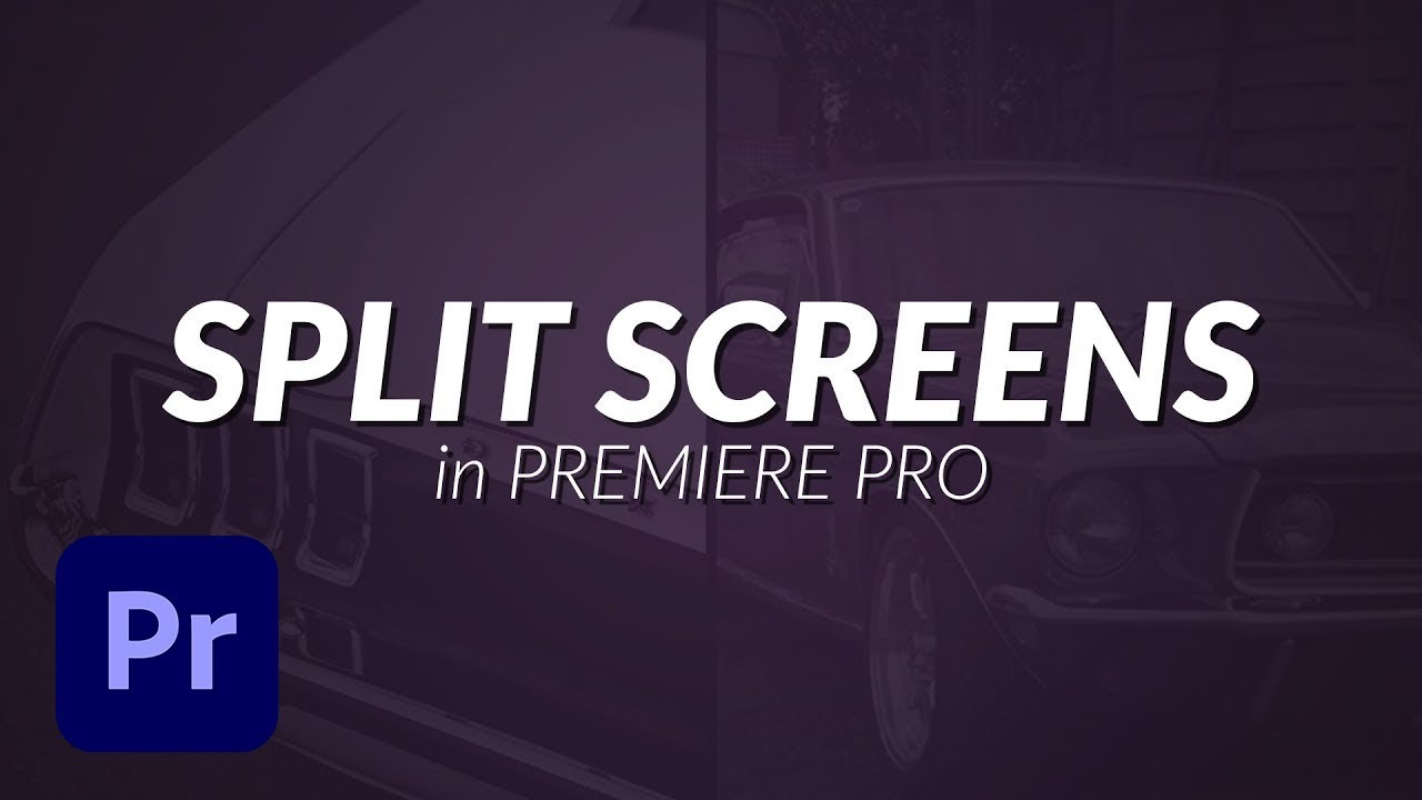 How To Create Split Screens - Premiere Pro Tutorial - YouTube