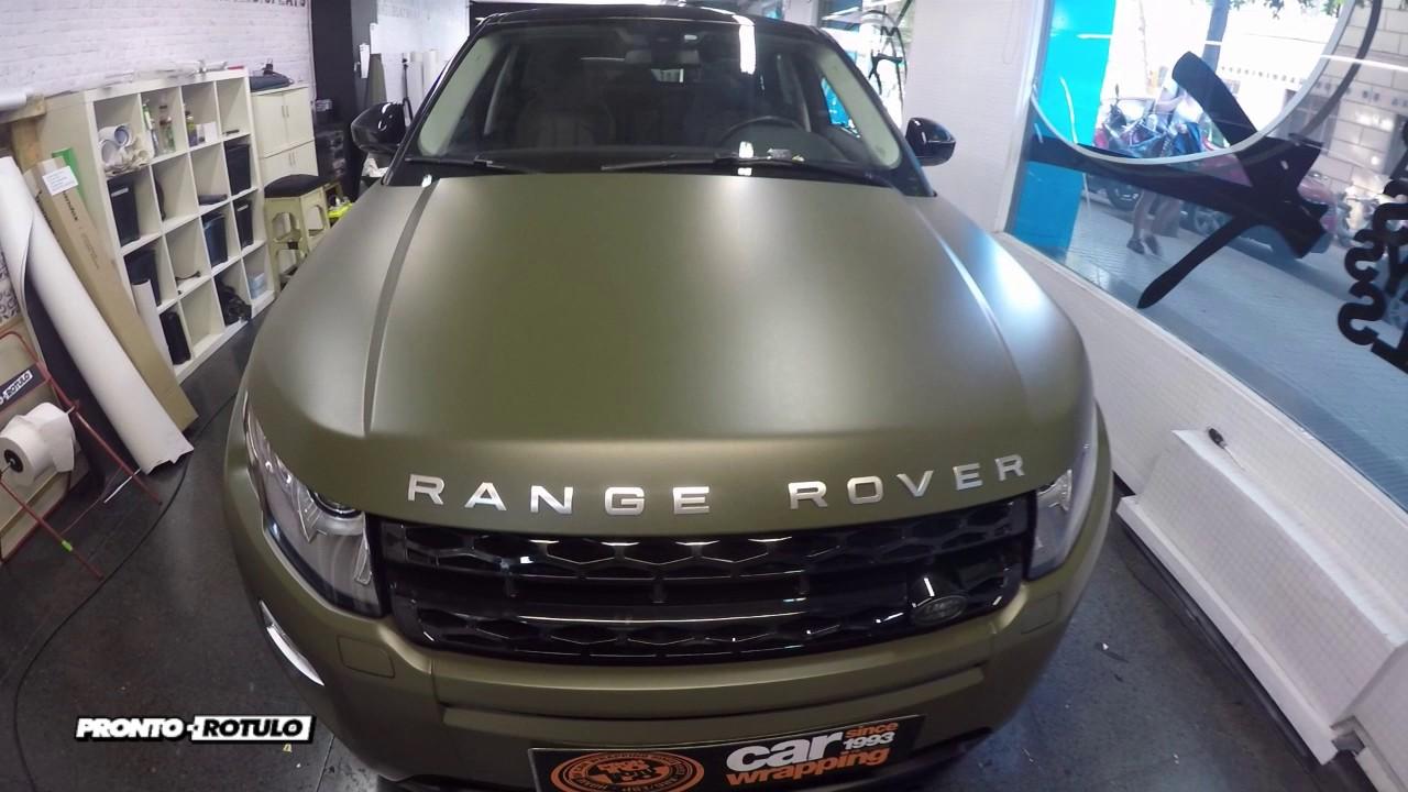 Range Rover Evoke >> Te harías un Range Rover Evoque en Verde Militar Mate? Car Wrapping by Pronto Rotulo - YouTube