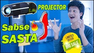 Budget Friendly Projector at very low cost | 180 inch TV or Cheap Projector | TechnoBaaz