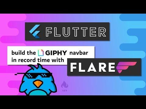 Flutter Flare Basics - Let's Build Giphy's Nav Menu