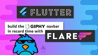 Flutter Flare Basics - Let's Build Giphy's Nav Menu