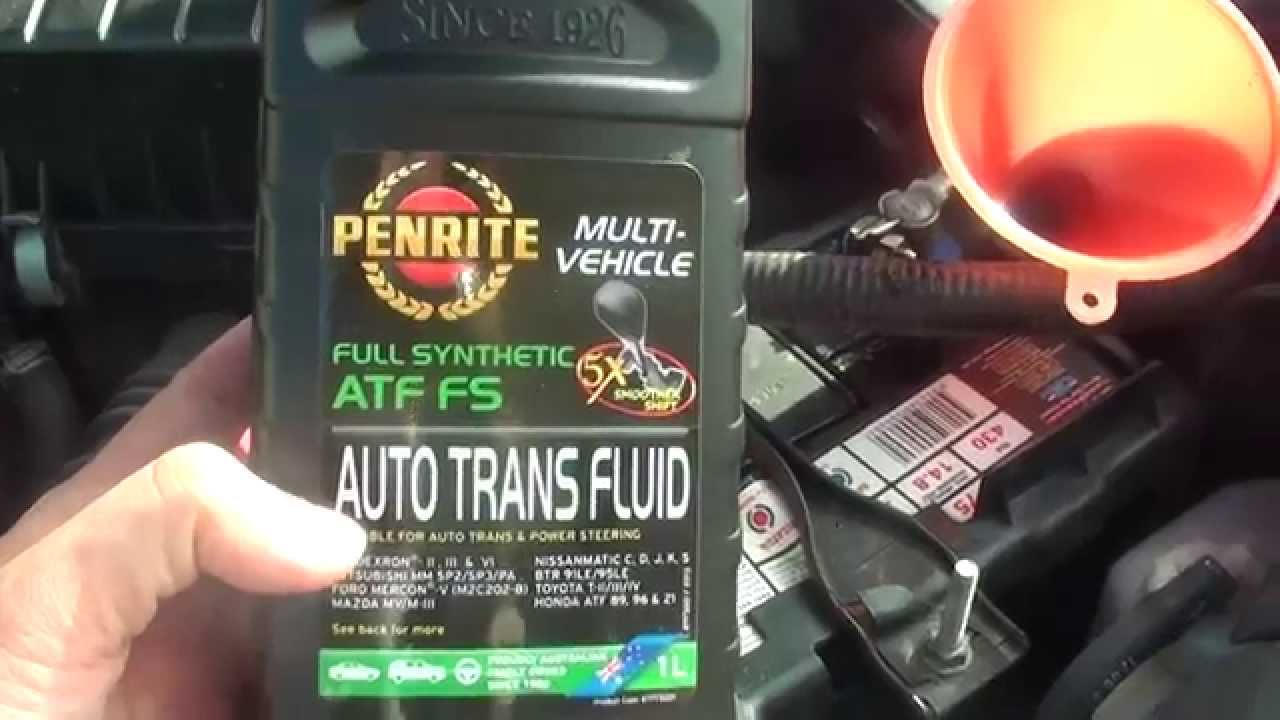 Honda Civic 2007 How To Top Up Or Fill Automatic Transmission Fluid You