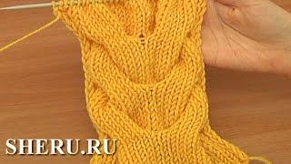 Knitting a Double Stitch Pattern Урок 15 Косы вязаные спицами