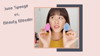 ⭐️長毛的美妝蛋真的好用嗎? / Juno Sponge vs. Beauty Blender / Linda Wang