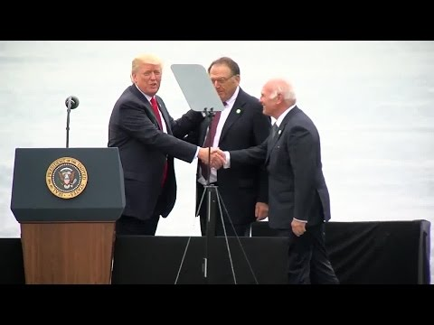 Donald Trump brings real estate developers on stage