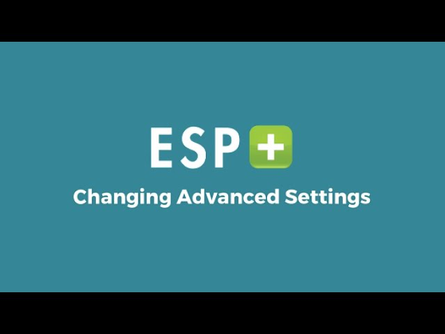 Video 4: Changing Advanced Settings