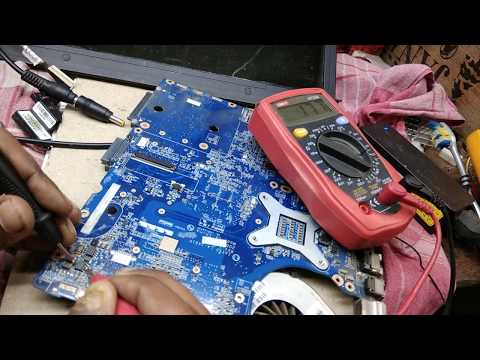 laptop repair #हिंदी में no power # short circuited HP 520 14-inch Laptop