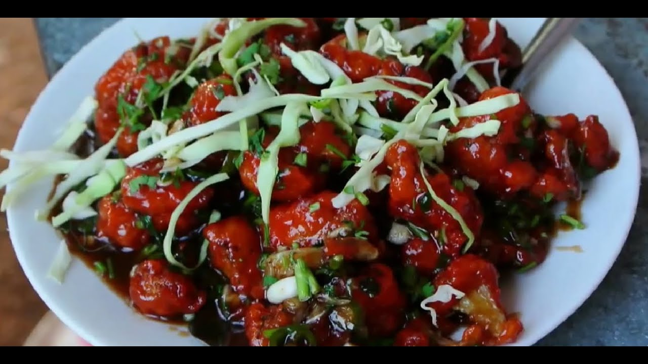 Street food - gobi manchurian - YouTube