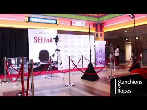 Red Carpet Express Chrome Stanchions & Ropes Rentals
