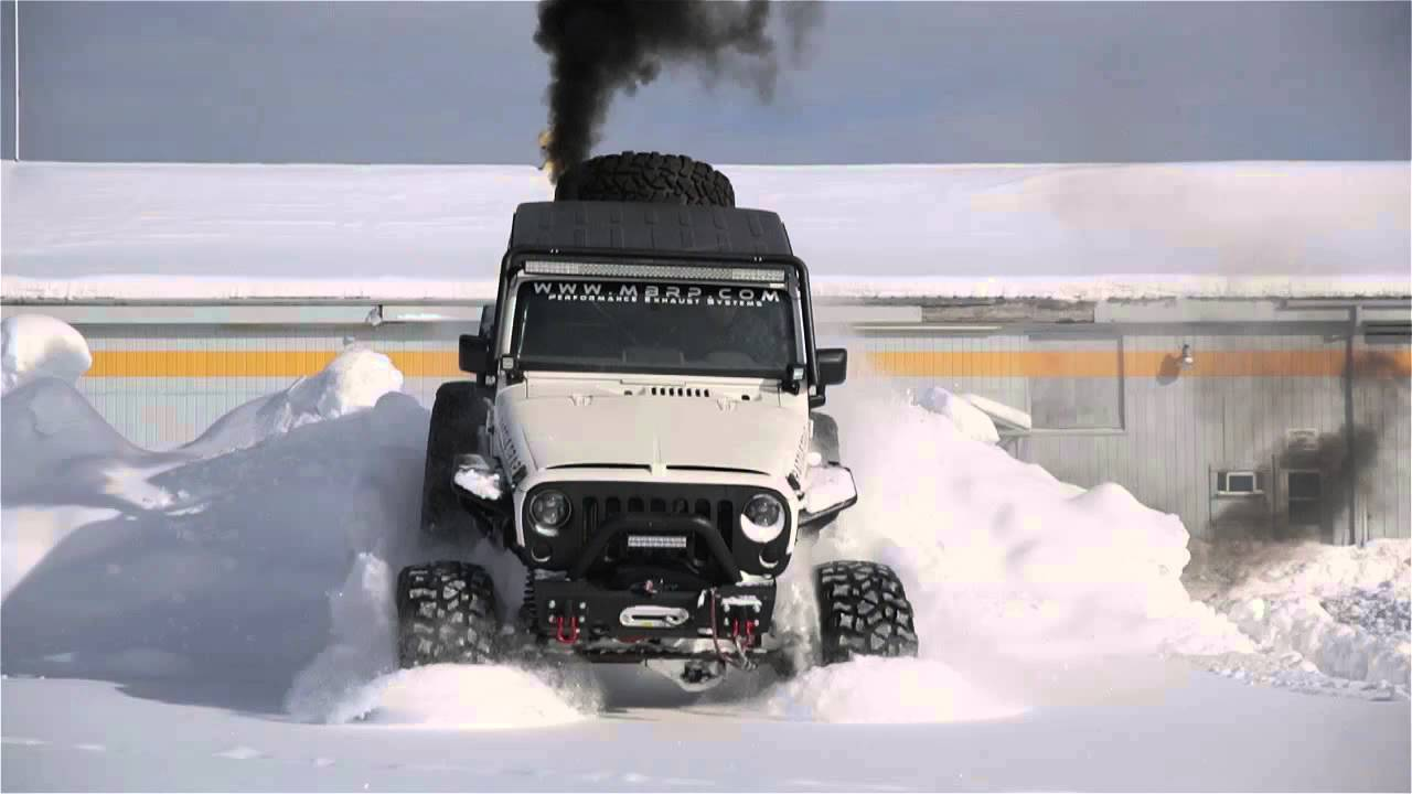 mbrp 39 s rattle trap jeep taking on the snow youtube. Black Bedroom Furniture Sets. Home Design Ideas