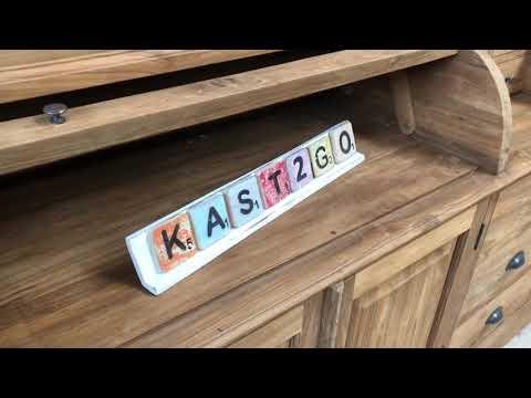 Teak houten buffetkast Bastiaan 244 cm | Kast2Go