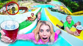 Last to Spill Wins on WORLDS Biggest Water Slide! (GAME MASTER Hidden Clues in Hawaii ) thumbnail