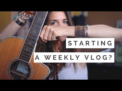 Starting a Vlog?! Changing My Strings & More!