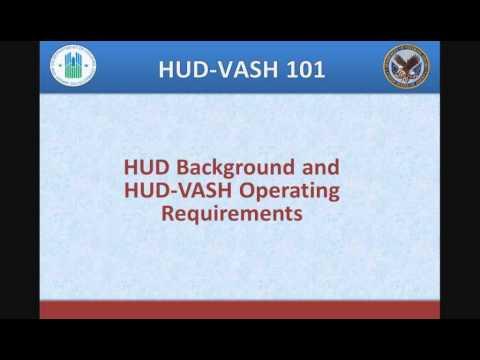 HUD-VASH Webinar: HUD-VASH 101 - 1/24/12